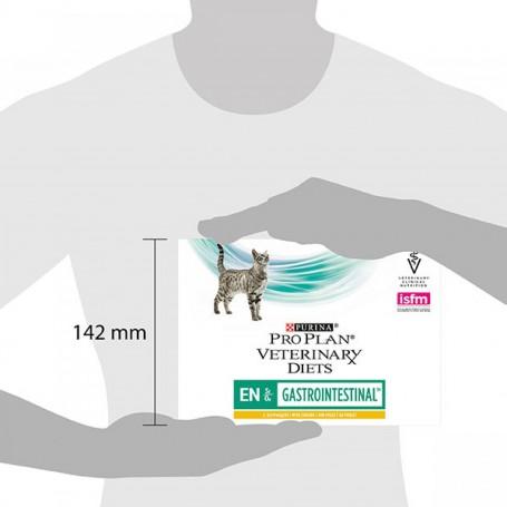 Tamaño caja comida húmeda Purina Pro Plan Veterinary Diet FELINE EN Pouch Pollo