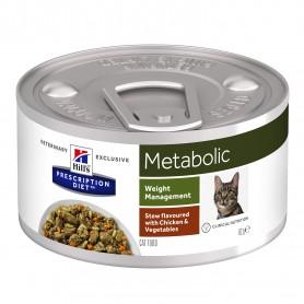 Hill´s Prescription Diet Feline Metabolic Estofado con sabor a Pollo y Verduras