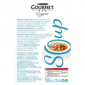 PURINA GOURMET Crystal Soup atún natural servido con gambas y atún...