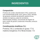 Ingredientes pienso Nutro Grain Free Adulto Razas Grandes Cordero