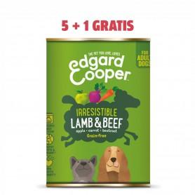 Edgard & Cooper, latas sin cereales con cordero y vacuno para...