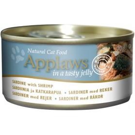 Comida húmeda para gatos Applaws Cat Jelly lata sardina y gamba