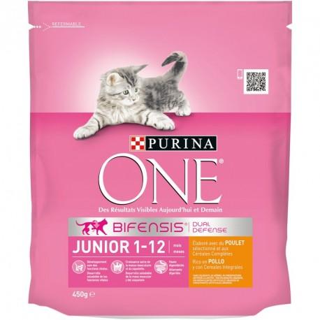 Purina One Gato Junior rico en Pollo y Cereales Integrales
