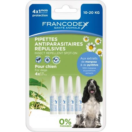 Pipetas Francodex Repelentes de pulgas y garrapatas para perros
