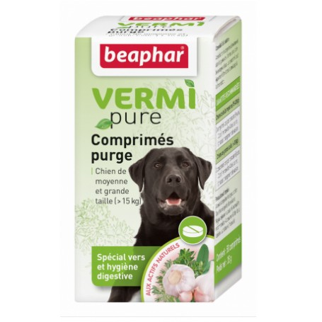 Beaphar Vermi Pure Antiparasitario interno para perros medianos y grandes
