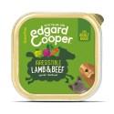 Edgard & Cooper, tarrinas sin cereales con cordero y vacuno para perros adultos