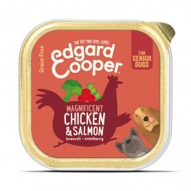 Edgard & Cooper, tarrinas sin cereales con pollo y salmón para perros senior