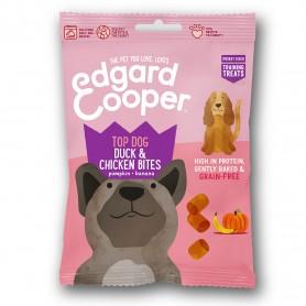 Edgard & Cooper, snacks sin cereales con pato, pollo, calabaza y plátano