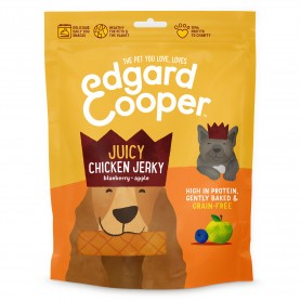 Edgard & Cooper, barritas sin cereales con pollo, manzana, zanahoria y arándano rojo