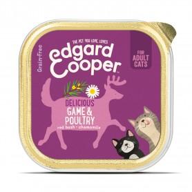 Edgard & Cooper, tarrinas sin cereales con aves y venado para gatos...