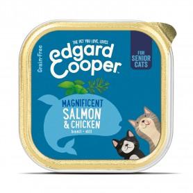 Edgard & Cooper, tarrinas sin cereales con pollo y salmón para...