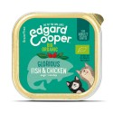Edgard & Cooper, tarrinas sin cereales con pollo y pescado ecológicos para gatos adultos