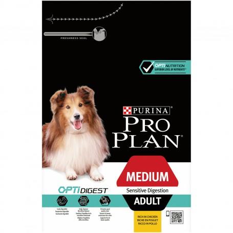Purina Pro Plan Medium Adult Digestion Pollo, pienso para perros con los mejores nutrientes