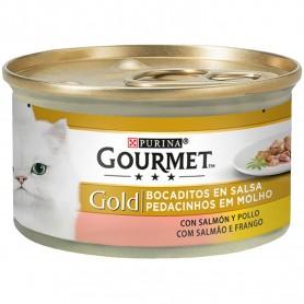 Purina Gourmet Gold Bocaditos en Salsa con Salmón/Pollo